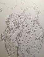 Sketch de Misaki et Takumi Mitomo Sasako