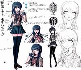 Danganronpa 1 Character Design Profile Sayaka Maizono.png