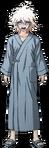 Nagito Komaeda Fullbody Sprite (Hospital Gown) (2)