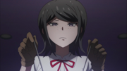 Despair Arc Episode 9 - Mukuro directly tampering with Chisa's brain.png
