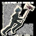 Danganronpa V3 Shuichi Saihara Death Road of Despair Sprite (Hammer) 08