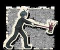 Danganronpa V3 Shuichi Saihara Death Road of Despair Sprite (Hammer) 05