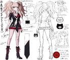 Danganronpa 1 Character Design Profile Junko Enoshima