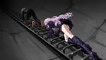 Danganronpa 1 CG - Makoto Naegi and Kyoko Kirigiri climbing the ladder (1)