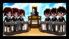 Danganronpa 2 CG - Monokuma explaining the Class Trial.png