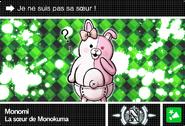 Danganronpa V3 Bonus Mode Card Monomi N FR