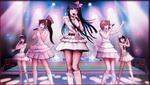 Danganronpa 1 CG - Sayaka Maizono's idol group in Sayaka's motive video (5)