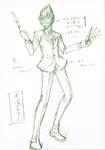 Danganronpa 3 - Character Profiles - SHSL Street Performer (Sketches)