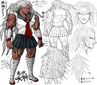 Danganronpa 1 Character Design Profile Sakura Ogami.png