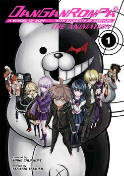 Manga Cover - Danganronpa The Animation Volume 1 (Front) (English).jpg