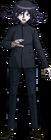 Danganronpa V3 Kokichi Oma Fullbody Sprite (High School Uniform) (4)