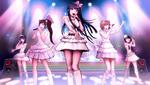 Danganronpa 1 CG - Sayaka Maizono singing with her idol group