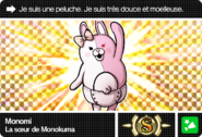Danganronpa V3 Bonus Mode Card Monomi S FR