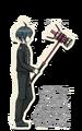 Danganronpa V3 Shuichi Saihara Death Road of Despair Sprite (Hammer) 02