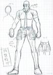 Danganronpa 3 - Character Profiles - SHSL Discus Thrower (Sketches)