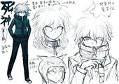 Danganronpa 2 Character Concept - DR2 Art Book (4).png
