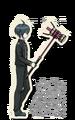 Danganronpa V3 Shuichi Saihara Death Road of Despair Sprite (Hammer) 01
