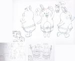 Danganronpa 3 - Character Profiles - Monomi (Sketches)