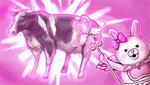 Danganronpa 2 CG - Usami transforming a chicken into a cow (2)