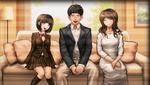 Danganronpa 1 CG - The Naegi family in Makoto's motive video
