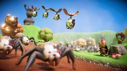 Pixeljunk Monsters 2 - Enemies