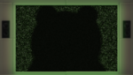 Danganronpa 1 CG - Monokuma Silhouette on screen