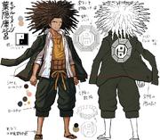 Danganronpa 1 Character Design Profile Yasuhiro Hagakure.png