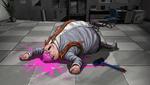 Danganronpa 1 CG - Hifumi Yamada fake body discovery