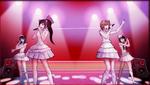 Danganronpa 1 CG - Sayaka Maizono's idol group in Sayaka's motive video (1)