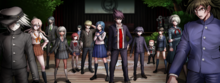 Danganronpa V3 CG - The Pre-Game students gathered in the gym.png