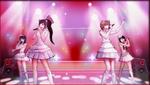 Danganronpa 1 CG - Sayaka Maizono's idol group in Sayaka's motive video (4)