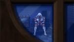 Danganronpa 1 CG - Sakura's corpse through the window