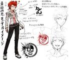 Danganronpa 1 Character Design Profile Leon Kuwata