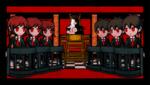 Danganronpa 1 CG - Monokuma explaining the Class Trial