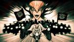 Danganronpa 1 CG - Mondo Owada riding with his motorcycle gang