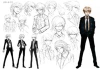 Byakuya Togami Beta Designs 1.2 Reload Artbook.png