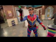 """Breaking- Captain Man berates his crew on the set of """"Danger Force"""