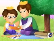 Prince Wednesday and Prince Tuesday assembling an airplane