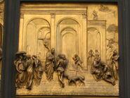 4.Detalle en Puerta ParaADso Baptisterio de San Giovani Florencia