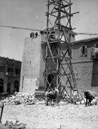 Taking down clock tower, Jerusalem. matpc.16813