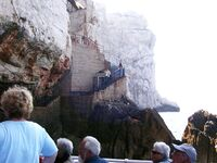 Steps to Neptun's grotto