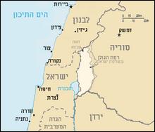 Golan Heights Map He