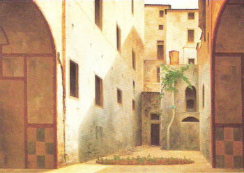 View of Ancient Florence by Fabio Borbottoni 1820-1902 (36)