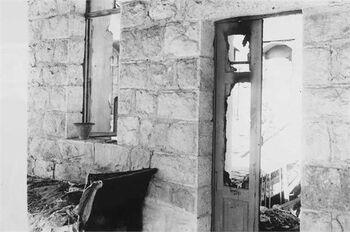 הריסות בית מקלוף במוצא- 1929