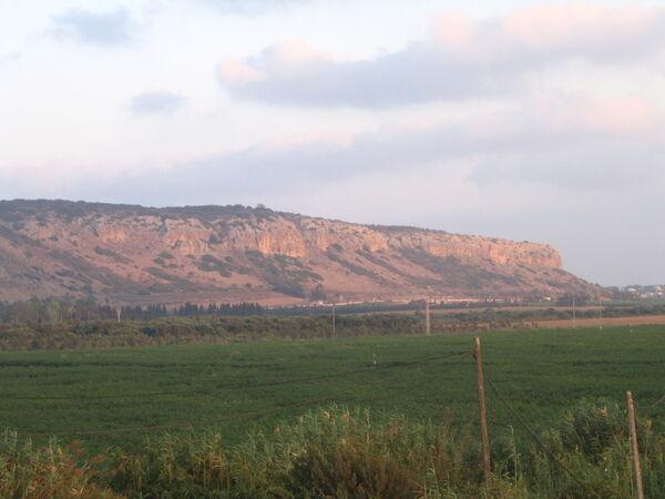 הר הכרמל, מבט מדרום מכיוון קיבוץ מעגן מיכאל צילם:Chadner