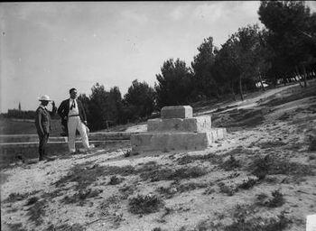 ירושלים - אבן פינה של האוניברסיטה על הר הצופים.-JNF043457