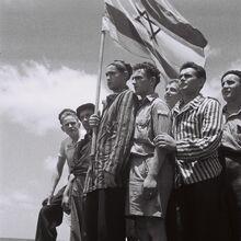 19450715 Buchenwald survivors arrive in Haifa