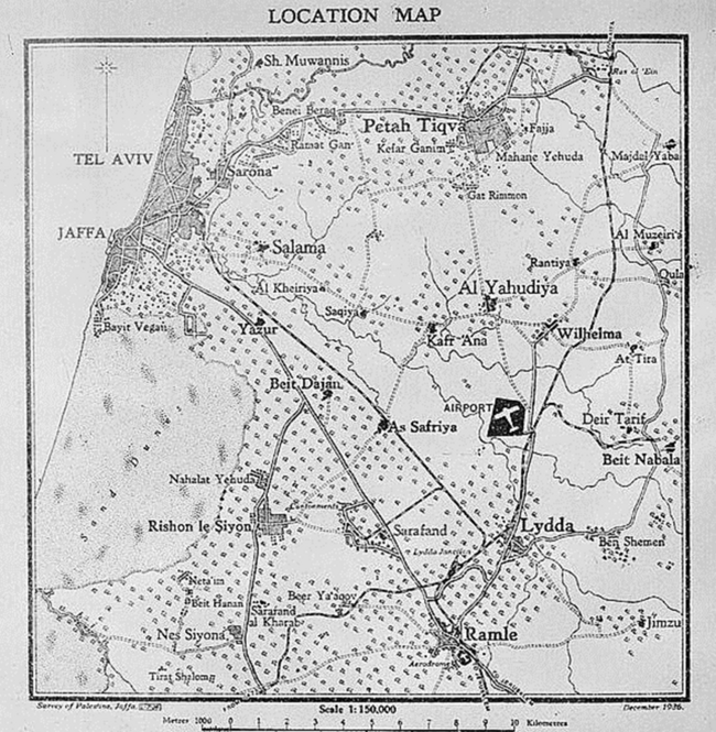 תוואחי מסילת הברזל לממחנות הצבא בצריפין רמלה עד בית נבאללה - במקור על דיר בלוט ראה כאן.png