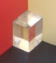 Double refractive calcite