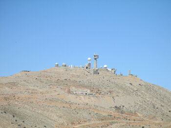 Snow lookout on Mount Hermon